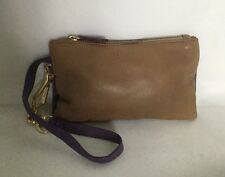 WITCHERY Leather Zipped Pouch/Wristlet/Clutch Bag / Handbag