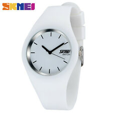 SKMEI Brand Watch Men Women Colorful Jelly Quartz-Watch Silicone Band