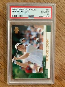 2002 Upper Deck Golf Phil Mickelson Rookie RC Base #41 - PSA 10 - Gem Mint