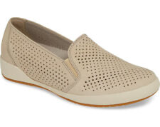 NEW DANSKO Odina Perforated Sand Nubuck Leather Slip-On Sneakers EUR 38/US 7.5-8