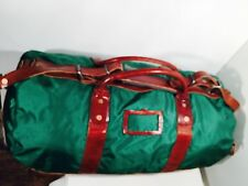 Designer RALPH LAUREN Twill Duffel / Leather Weekend BAG NEW