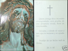 OLD BLESSED BLOODIED FACE OF JESUS CHRIST HOLY CARD ANDACHTSBILD SANTINI   CC715