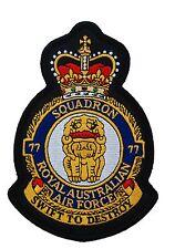 RAAF 77 Squadron Uniform Patch Crest New