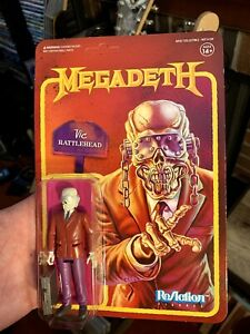 """Super 7 ReAction MEGADETH Vic Rattlehead """"Peace Sells"""" Carded Unpunched & Mint"""