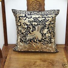 BRAND NEW CHINESE handmade classical SILK Embroider CRANE Cushion Cover+core