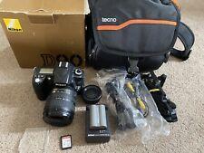 Nikon D90 camera with Nikkor 18-70mm DX ED zoom Lens 35k SC, 64GB  SD Card & Bag