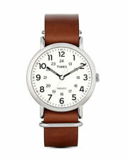 Timex Originals Weekender Brown Leather Strap Watch T2P495