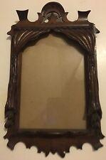 Superb Antique Black Forest Carved Wood Drapes Motif Picture Frame