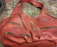 JJ Winters Halle Bag Special Ordered in Dusty Red Leather Hobo Bag Slouch Bag