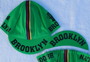 Brooklyn Cycling Team Cap Classic Hat Black Pink Green Red White Blue Yellow **