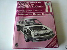 Haynes Repair Manual Dodge Shadow/Plymouth Duster & Sundance 1987+