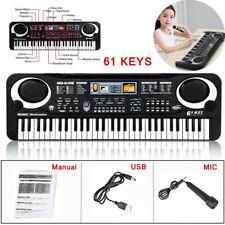 Tastiera Musicale Pianola Elettronica 61 Tasti Pianoforte Multifunzione USB