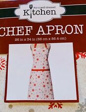 "Kay Dee Designs Winter Sparkle Chef Apron 26""x34"", Christmas, Holiday, Snowflake"