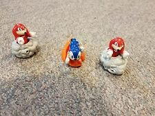 Sonic The Hedgehog Launcher and Knuckles Wheeled Spinning 3 inch Figures Rare