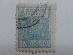 3 x Brazil Stamps - Cr$ 0,40 - Rs. 200 - Rs. 400
