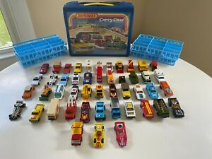 1970s-1980s Matchbox & Hot Wheels Lot of 47 Cars Trucks Tanks