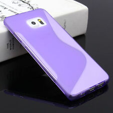 HOUSSE ETUI COQUE SILICONE GEL VIOLET SAMSUNG GALAXY S6 EDGE PLUS