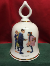 The Wonderful World of Norman Rockwell Collectible Bell First Dance 1979