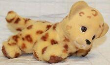 VTG 1994 Ed Kaplan Baby Zoo Born Leopard Flocked Head Soft Body *Works VIDEO*