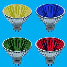 2x 50W Coloured MR16 12V Halogen Spot Light Bulb Lamps 13 Degree Beam, Reflector