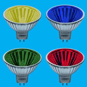 12x 50W Coloured MR16 12V Halogen Spot Light Bulb Lamps 13 Degree Beam Reflector