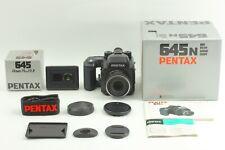 【NEAR MINT in Box】 Pentax 645N w/ SMC FA 75mm f/2.8 + 120 Film back  From JAPAN