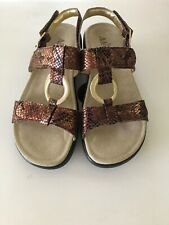 Women's Alegria Julie Size 37 Strap Sandals Golden Brown EUC Slip Resistant