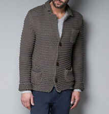 Men's Hand Knitted Cardigan XS,S,M,L,XL,XXL jacket Wool Hand Knit sweater 42
