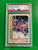 1986 Michael Jordan Fleer Sticker Rookie Card PSA 6 Looks Great Check Pics !
