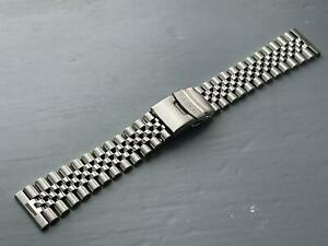 NEW 20MM JUBLEE STAINLESS STEEL WATCH STRAP FLAT LUGS FOR SEIKO watches.