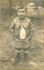 C-1910 Little Boy Goofy Fun Outfit Clothing RPPC real photo postcard 2285