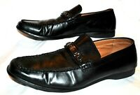 Kenneth Cole Reaction Code Word men's Shoes black slip on  leather dress 10M
