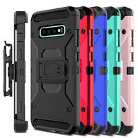 For Samsung Galaxy S10 Plus Case Belt Clip Holster Stand Hard Heavy Duty Cover