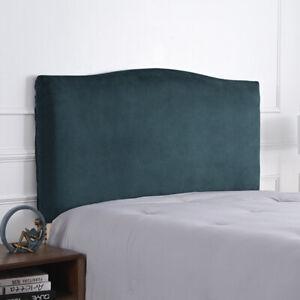 Thicken Plush Velvet Elastic Bed Head Cover Headboard Back Protection Dust Cover