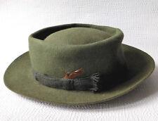 Vintage green felt hat Army & Navy mens traditional British country wear Medium