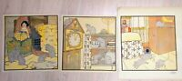 """MARY LOUISE SPOOR  """"HICKORY DICKORY DOCK""""  C.H. Congdon 1917 Orig. Lithographs"""