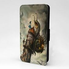 For Mobile Phone Flip Case Cover Steampunk Alice - S-T2701
