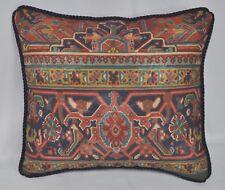 Pillow made w Ralph Lauren Oxfordshire Southwest Aztec Fabric 16x14 trim cording