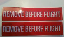 3 pcs Remove Before Flight decals,stickers, pilot, jet fighter, Boeing.