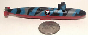 Small Micro Machine Military Plastic US Navy SSN Submarine /3 missiless In Camo