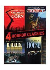 4 Horror Classics (Children of the Corn / Creepshow 2 / House /... Free Shipping