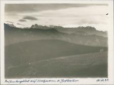 Allemagne, Bavière, Vue des sommets, 31 octobre 1928, vintage silver print Vinta