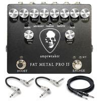 New Amptweaker Fat Metal Pro II Distortion Preamp Guitar Effects Pedal