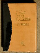 Italian Language Bible, MacArthur Study Bible,La Sacra Bibbia, Im Leather,damage