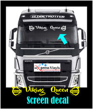 """Volvo """"Viking Queen"""" truck windscreen decal. ANY COLOUR FL FM FMX FH"""