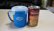 Microwave Soup 4 clip & Vented lid Large 710ml/24oz New AT&T LOGO