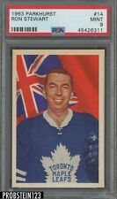 1963 Parkhurst Hockey #14 Ron Stewart Maple Leafs PSA 9 MINT