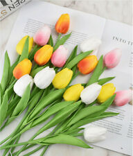 US 12 Artificial Tulip Fake Flower Real Touch for Wedding Home & Party Decor