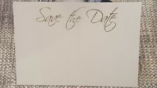 Quartz pearl Blank Save the Date cards - small single postcard size