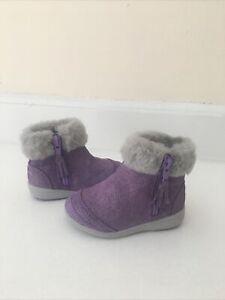 Stride Rite Toddler Girls Boots Size 5M Purple